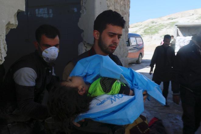 Nghi van tan cong bang khi gas o Syria, 58 nguoi chet hinh anh 1