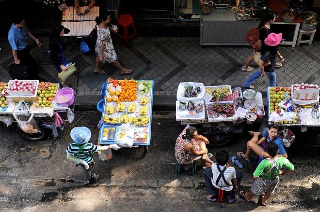 Bangkok sap cam xe hang rong o cac duong lon hinh anh 1