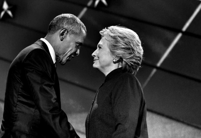 Hillary xin loi Obama sau that bai truoc Trump hinh anh