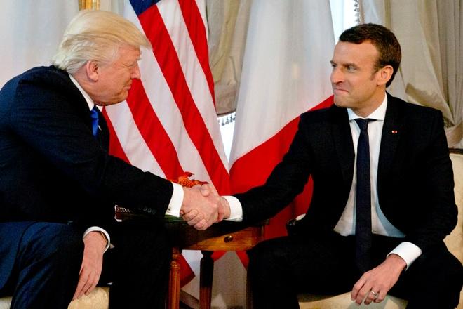 Ong Trump ca ngoi chien thang 'ky vi' cua Tong thong Macron hinh anh