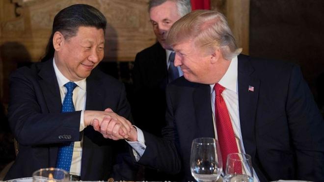 Tong thong Trump va Chu tich Tap dien dam ve Trieu Tien hinh anh