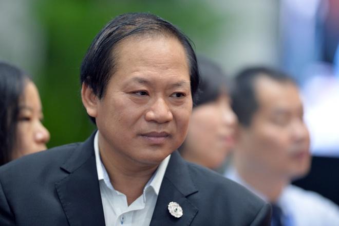 Bo truong Truong Minh Tuan thi sat trung tam bao chi APEC hinh anh