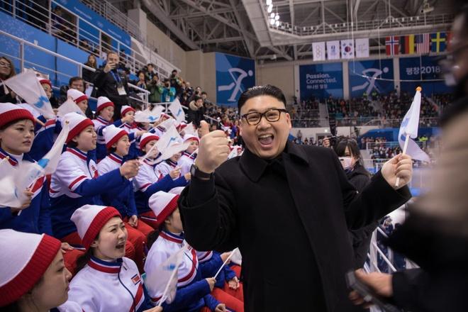 Doi co dong Trieu Tien giap mat nguoi gia Kim Jong Un o Olympics hinh anh 1