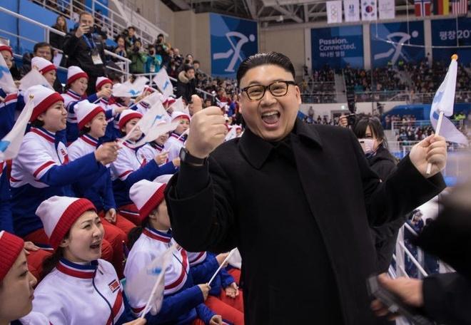 Doi co dong Trieu Tien giap mat nguoi gia Kim Jong Un o Olympics hinh anh