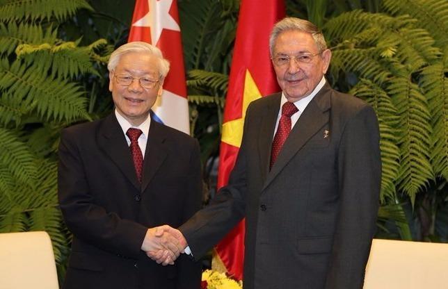 Chu tich Cuba don, hoi dam voi Tong bi thu Nguyen Phu Trong hinh anh