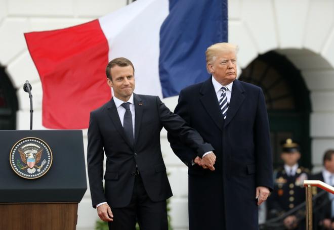 Trump don tiep Macron: 'Chung toi da xay dung mot tinh ban dep' hinh anh