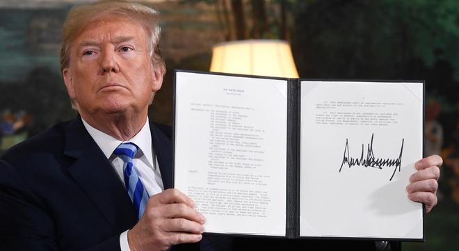 Trump xe bo thoa thuan Iran, nguy co xung dot tang manh o Trung Dong hinh anh