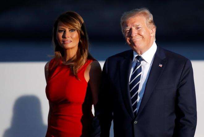TT Trump noi nham ba Melania 'quen biet' Kim Jong Un hinh anh 1
