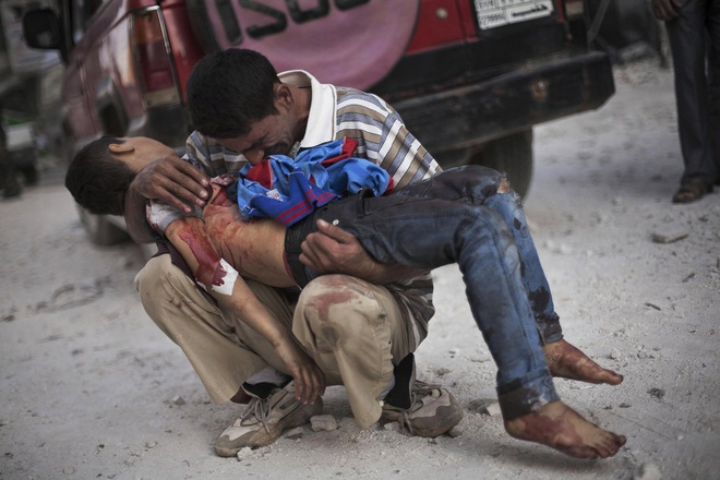 Dau an kho quen ve xung dot tai Syria qua anh hinh anh