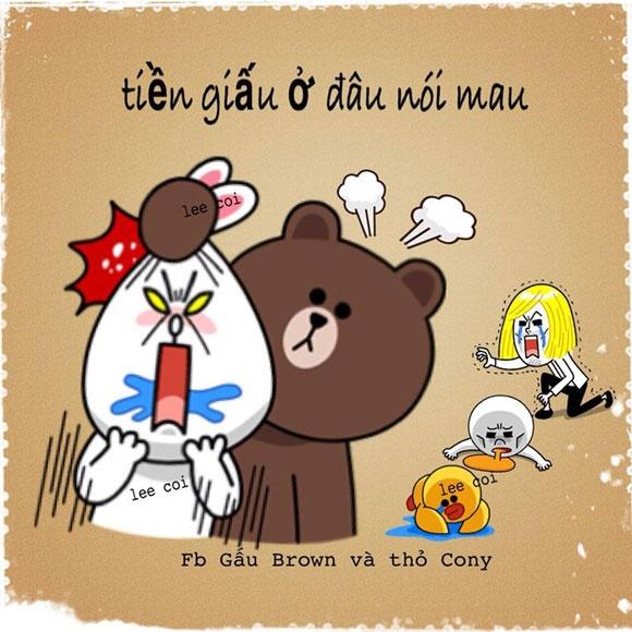 Sieu che: Gau Brown va tho Cony hinh anh