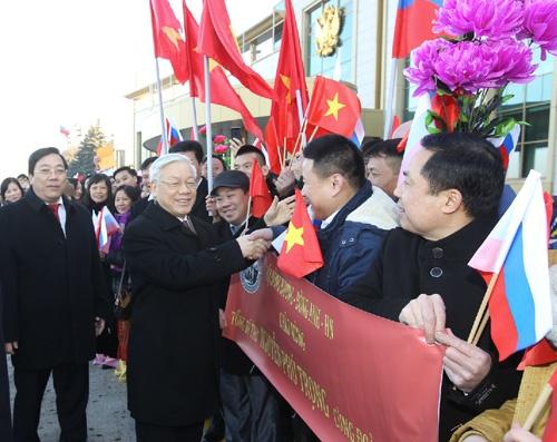 Tong Bi thu Nguyen Phu Trong tham chinh thuc Lien bang Nga hinh anh 3