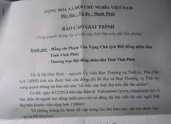 Nguyen Pct Tinh Xay Biet Thu Dat Lan Chiem Thua Nhan Sai Hinh Anh 1