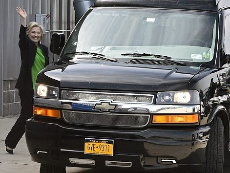 Kham pha xe 'Scooby Doo' cho ba Clinton tranh cu tong thong hinh anh