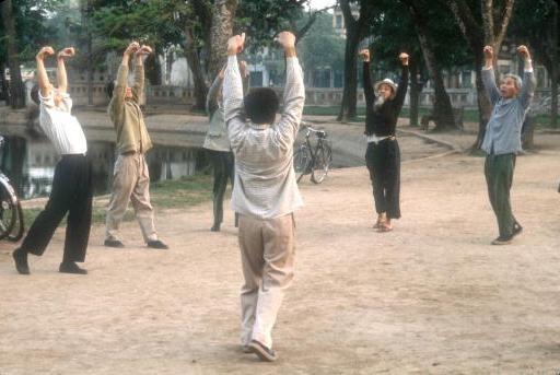 Viet Nam nhung nam dau thong nhat qua anh quoc te hinh anh 5 Người dân Hà Nội tập thể dục buổi sáng tại một công viên.