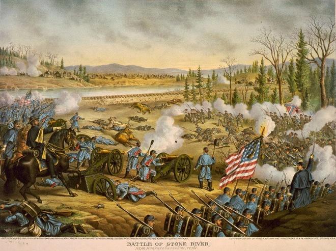 5 tran chien lich su co cuc dien thay doi vi ruou hinh anh 2 Trận chiến bên sông Stone năm 1862. Ảnh: BI