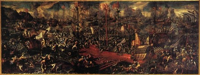 5 tran chien lich su co cuc dien thay doi vi ruou hinh anh 4 Cuộc chiến giữa liên minh hải quân châu Âu chống đế quốc Ottoman năm 1570. Ảnh: Wikimedia