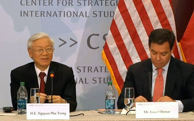 Tong Bi thu Nguyen Phu Trong phat bieu tai trung tam CSIS hinh anh