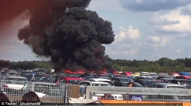 Phi cơ chở mẹ kế và em của Osama bin Laden gặp nạn tại Anh. Ảnh: