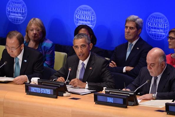 Tong thong Obama: Syria can lanh dao moi de danh bai IS hinh anh 1 Tổng thống Obama phát biểu tại Hội nghị cấp cao về chống phiến quân IS ngày 29/9. Ảnh: AFP