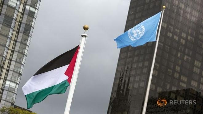 Palestine lan dau thuong co o Lien Hop Quoc hinh anh