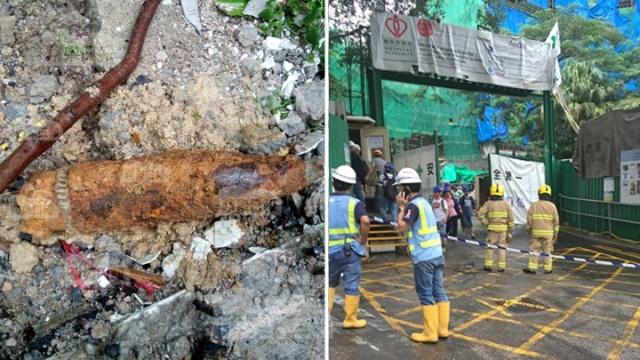 Phat hien vat lieu nghi la bom, Hong Kong so tan 500 nguoi hinh anh 1 Hong Kong sơ tán dân sau khi phát hiện vật thể nghi là bom sót lại từ thời chiến. Ảnh: Apple Daily