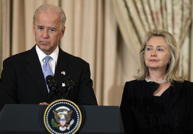 Cu tri dang Dan chu My muon ong Biden doi dau ba Clinton hinh anh