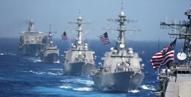 Hải quân Mỹ hiện diện đáng kể ởi Thái Bình Dương. Ảnh: AP