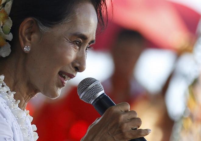 Ba Suu Kyi doi mat nhieu thach thuc hau bau cu hinh anh