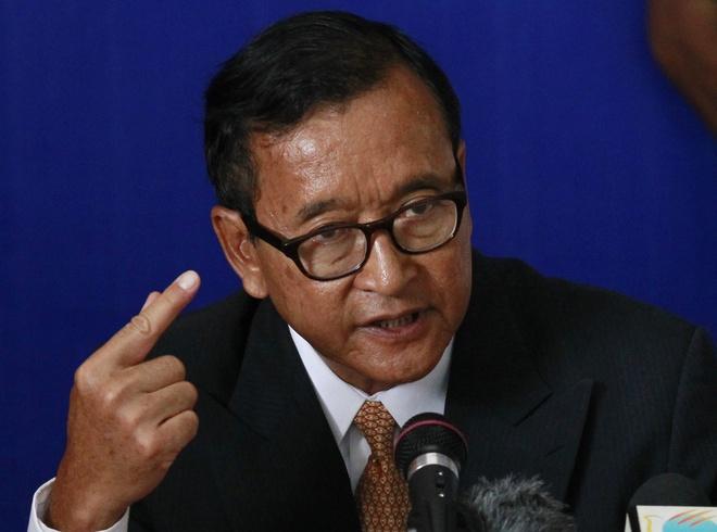 Toa Campuchia ra lenh bat lanh dao doi lap Sam Rainsy hinh anh