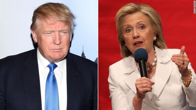 Ty phu Trump se thua neu doi dau truc tiep voi ba Clinton hinh anh
