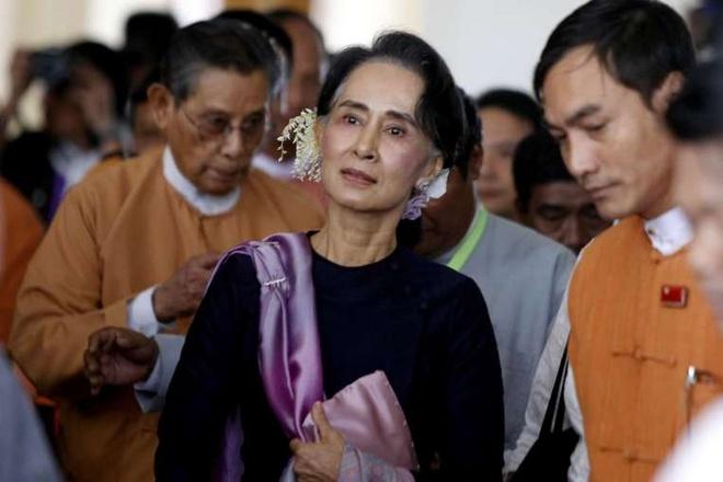 Myanmar tang cuong bao ve ba Suu Kyi do de doa am sat hinh anh