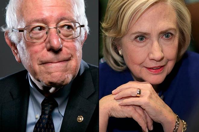 Clinton, Sanders dong loat cong kich Donald Trump hinh anh