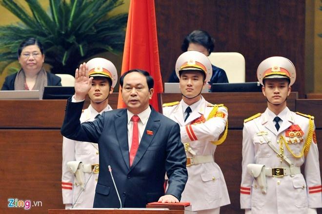 Tong thong Putin chuc mung tan Chu tich nuoc Tran Dai Quang hinh anh