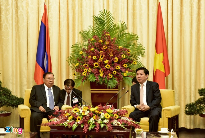 Bi thu Thang: Tinh thuy chung Viet - Lao mai xanh tuoi hinh anh 1