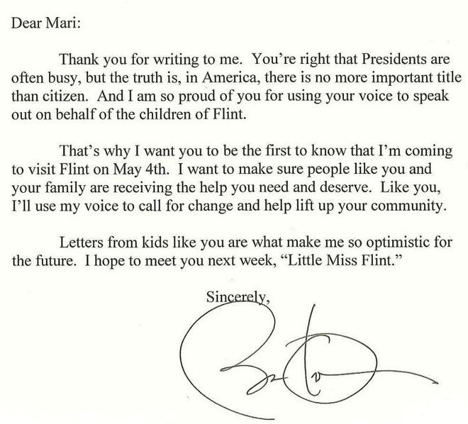 Obama tham thanh pho bi o nhiem sau loi moi tu be gai 8 tuoi hinh anh 2