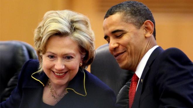Tong thong Obama chuc mung ba Clinton hinh anh