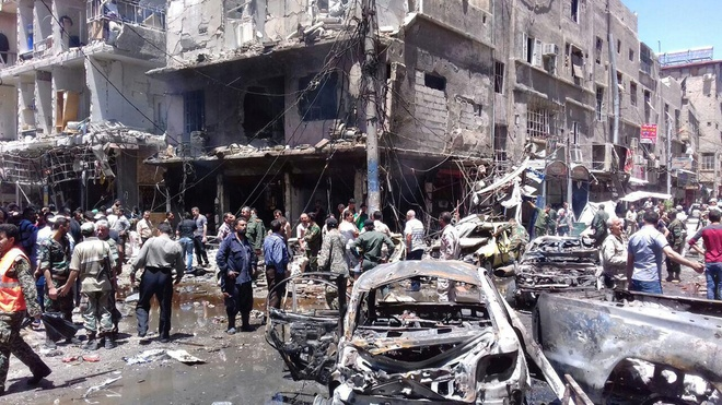IS danh bom thu do Syria, 20 nguoi chet hinh anh 1