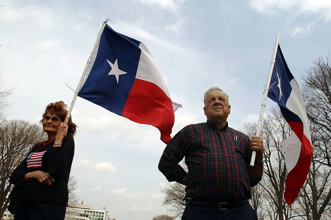 Anh huong tu Anh roi EU, dan bang Texas muon tach khoi My hinh anh 1