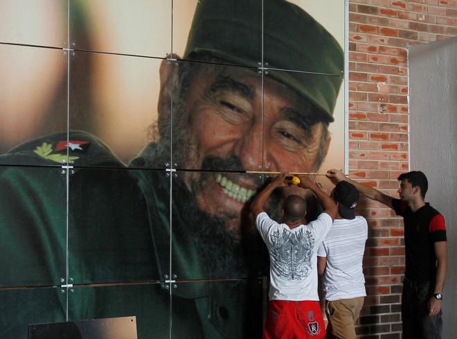 Dan Cuba mung sinh nhat thu 90 cua ong Fidel Castro hinh anh