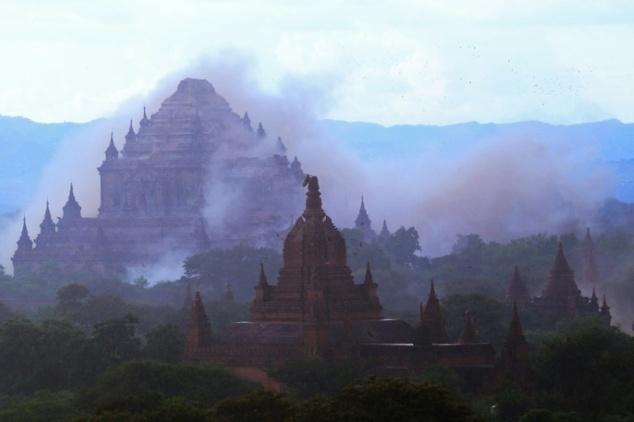 200 chua co thanh dia Bagan bi huy hoai sau dong dat Myanmar hinh anh
