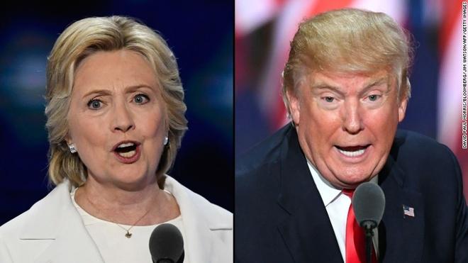 Ba Hillary cong kich ong Trump du doi nhat tu truoc den nay hinh anh