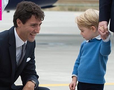 Thu tuong Canada bi hoang tu be nuoc Anh tu choi dap tay hinh anh