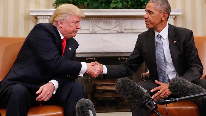 Trump gap tong thong Obama anh 1