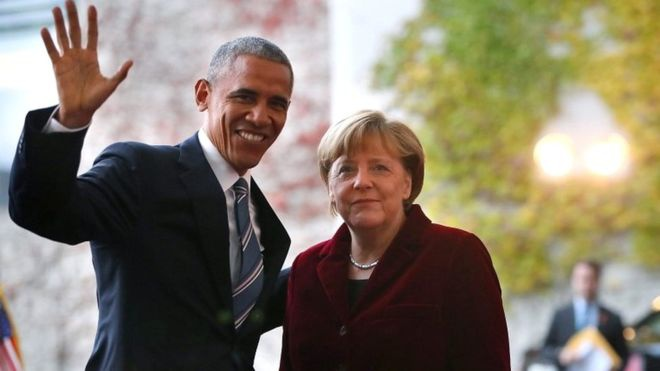 Tu Duc, Obama va Merkel ngam canh bao Trump hinh anh 1