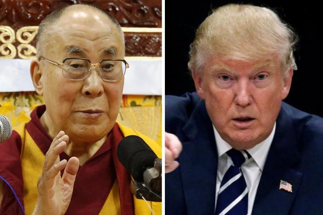 Trung Quoc tuc gian vi Dalai Lama muon gap Donald Trump hinh anh