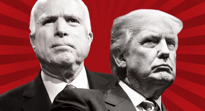 cuoc doi dau Trump - McCain anh 1