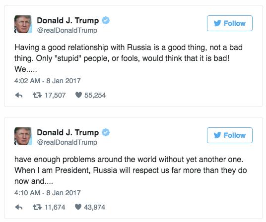 Trump: Nhung ke ngoc moi khong tin vao quan he voi Nga hinh anh 1