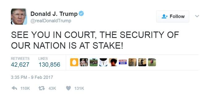 Thua kien toa phuc tham vu lenh cam nhap cu, Trump noi gian hinh anh 1