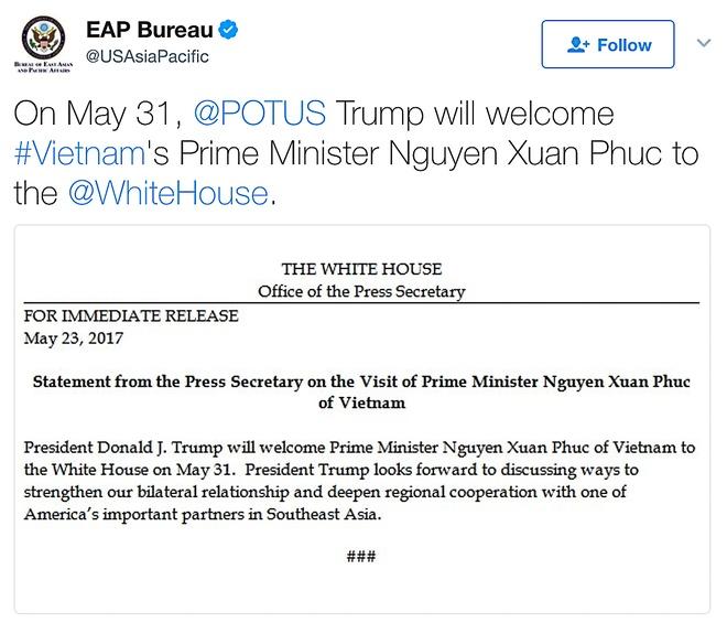 TT Donald Trump se tiep Thu tuong Nguyen Xuan Phuc vao ngay 31/5 hinh anh 2