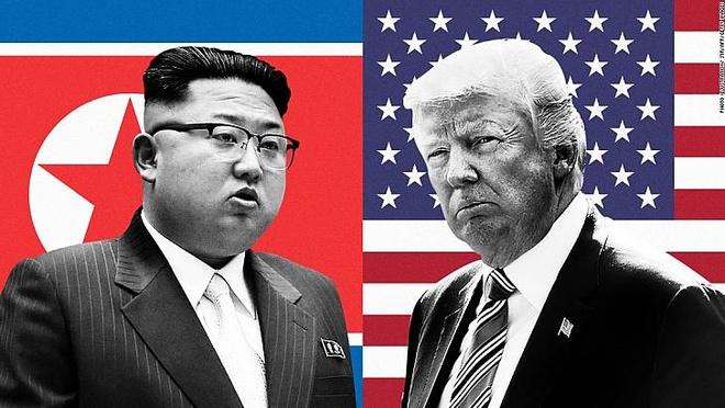 Phot lo Trung Quoc, Kim Jong Un doi dau truc tiep TT Trump hinh anh